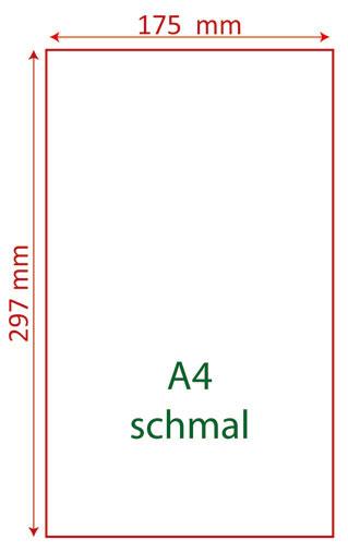 A4 schmal