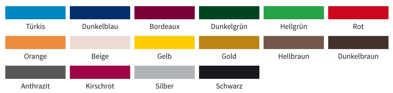 Einfassbandfarben