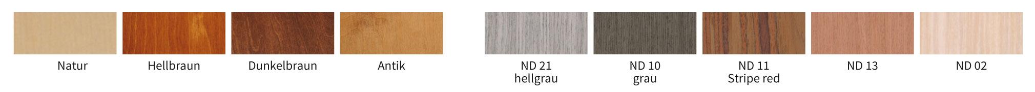 Holzfarbauswahl