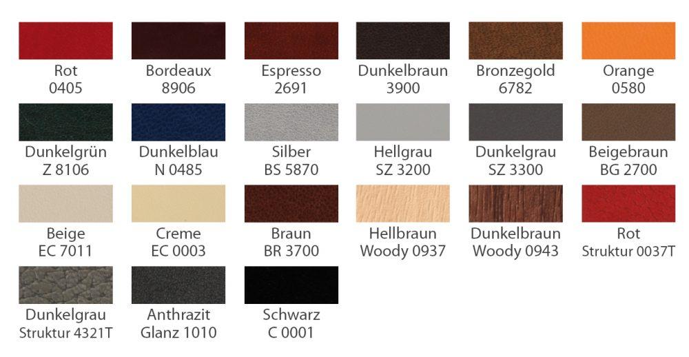 Kunstlederfarben