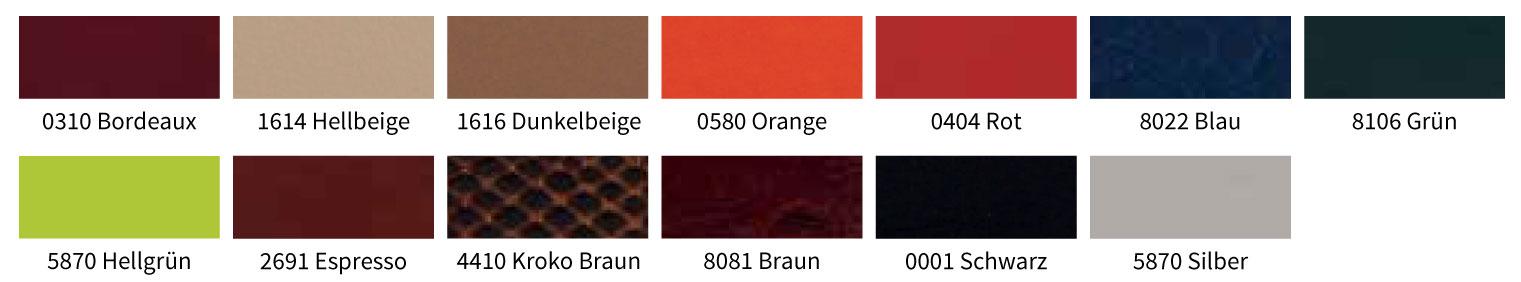 Farben Kunstleder