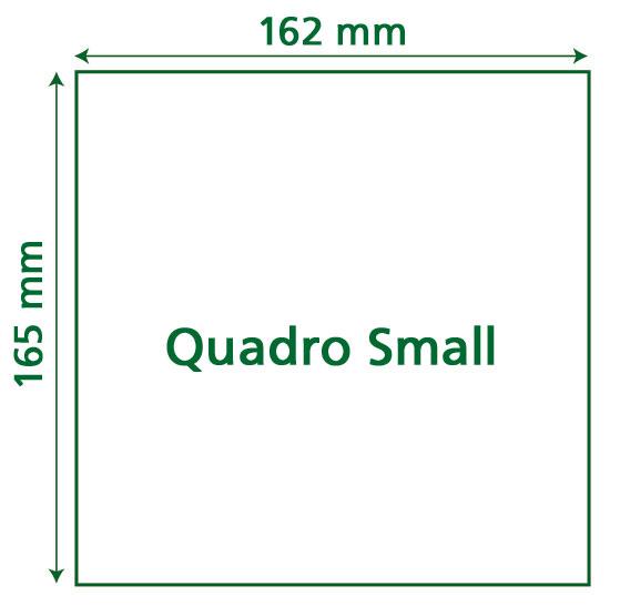 Papiereinschubgröße Quadro Small